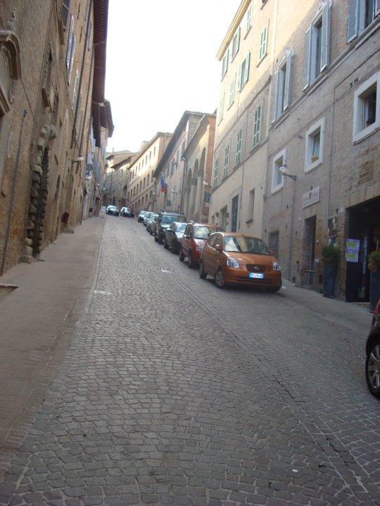 Street in Urbino, Marche, ITALY