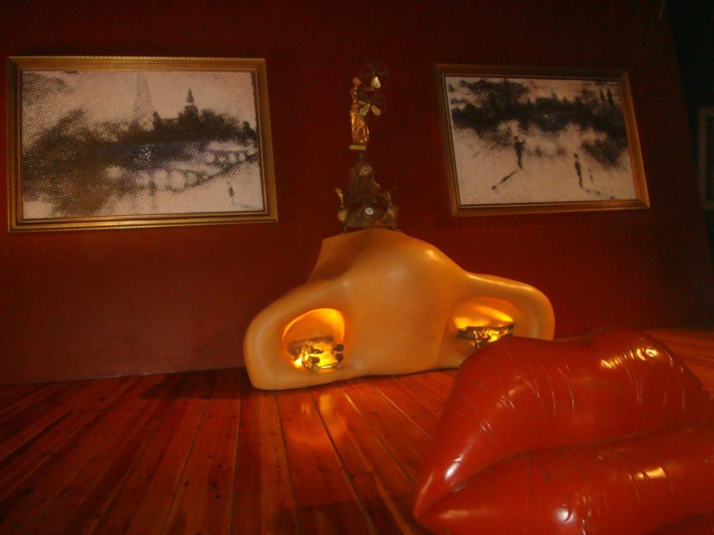 The Mae West room at the Dalí Theatre Museum