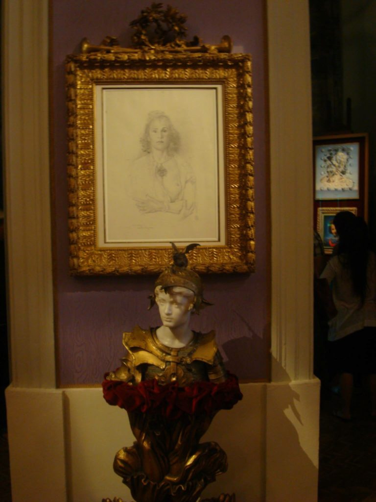 A portrait at the Dali Museum in Figueres