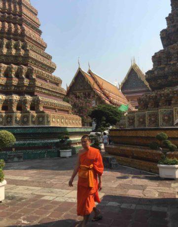 Buddhist monk in Bangkok