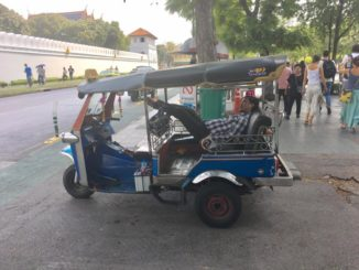 Tuk Tuks driver resting