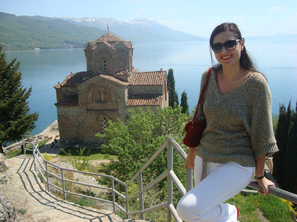 Me on the lake Ohrid in Macedonia