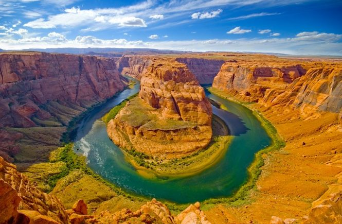 Horseshoe Bend in Arizona is a popular destination in the USA
