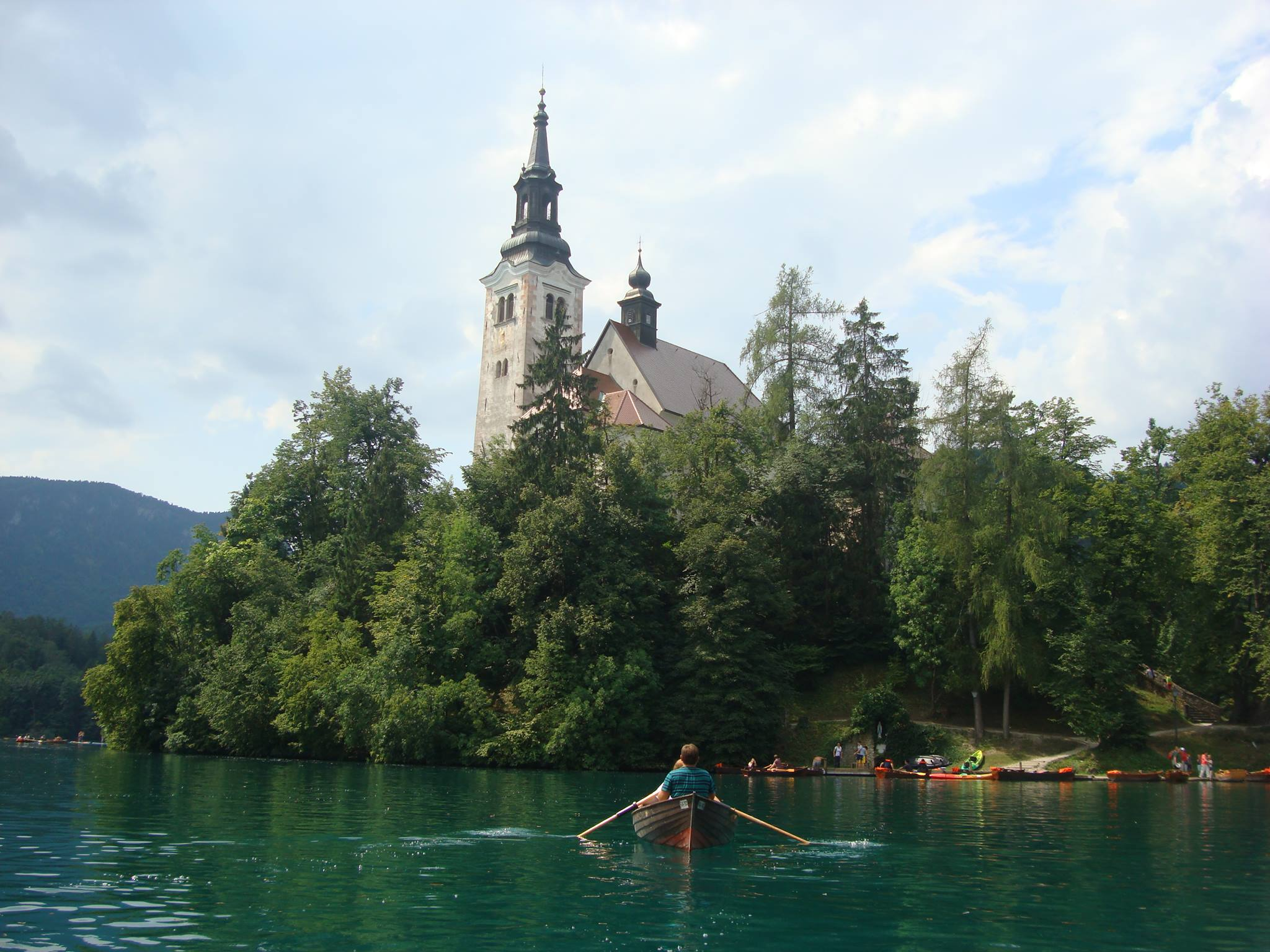 Lake Bled with the island and church