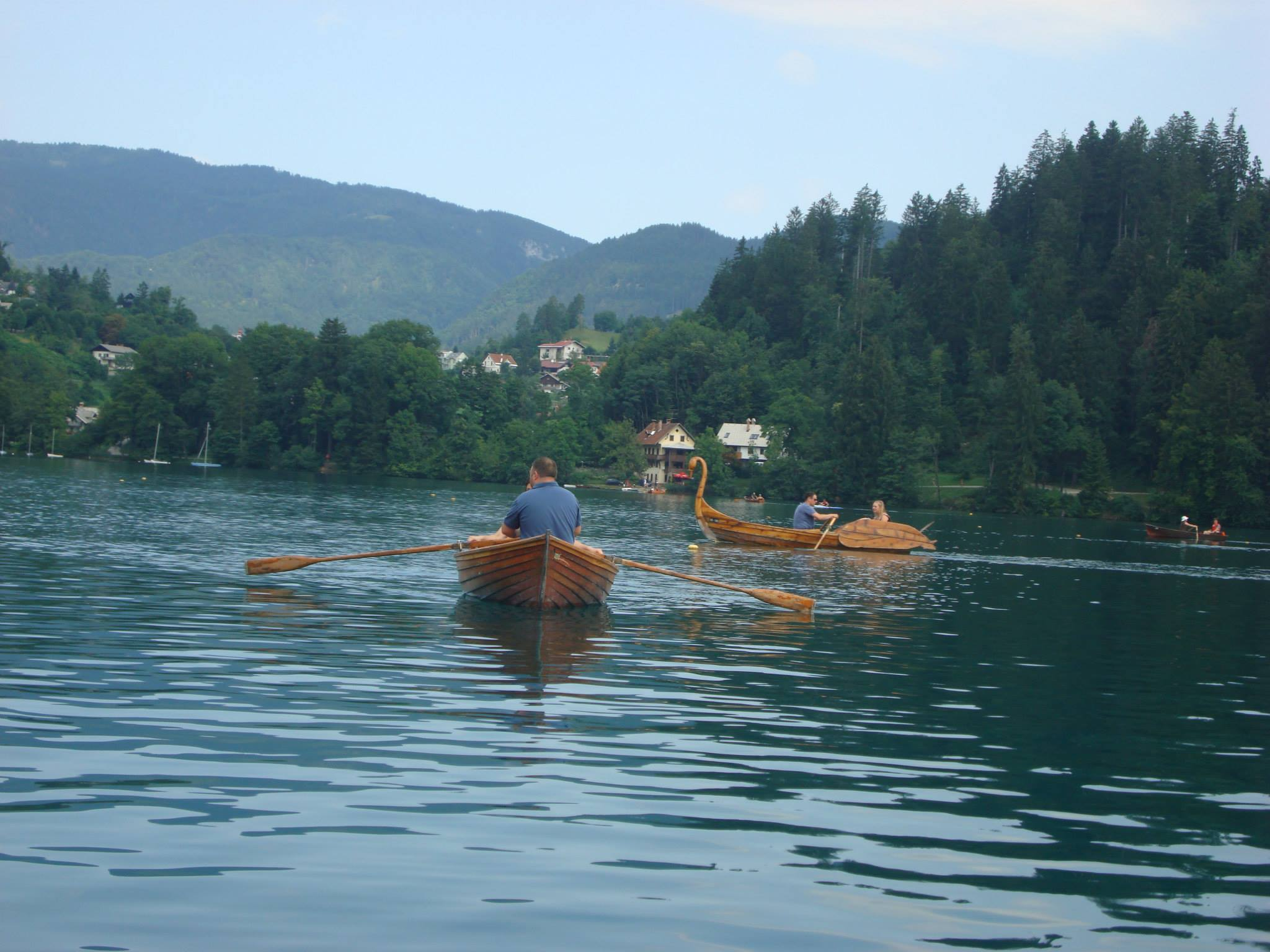 Lake Bled with boats