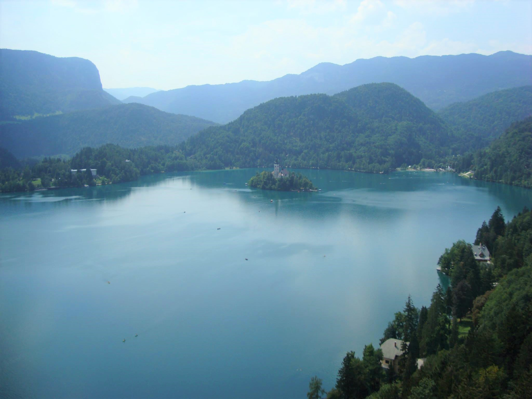Lake Bled with a tiny island 3