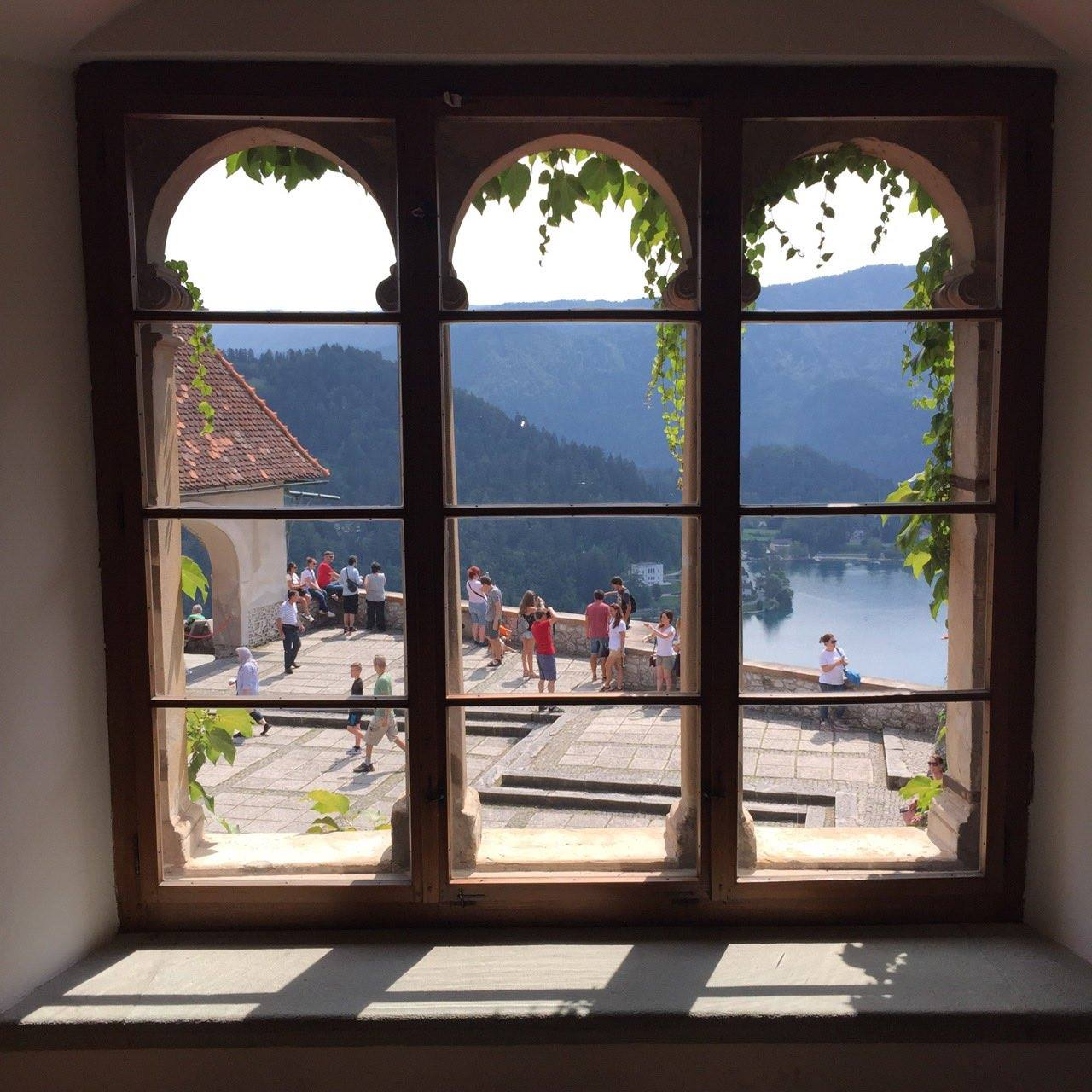 View from inside of the Bled Castle 1