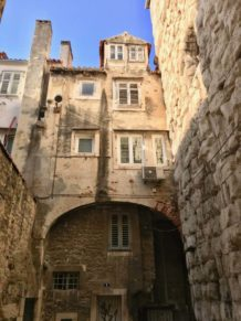 Homes in the old town of Split
