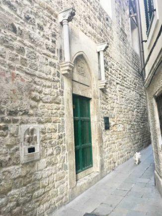 Roman alley in Split in Croatia