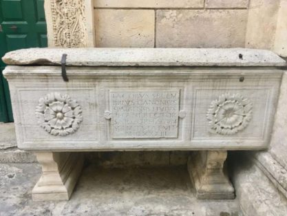 Sarcophagus in front of Jupiters Temple