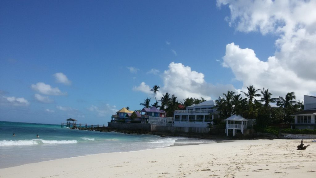 Nassau at Christmas and beaches of Bahamas in winter