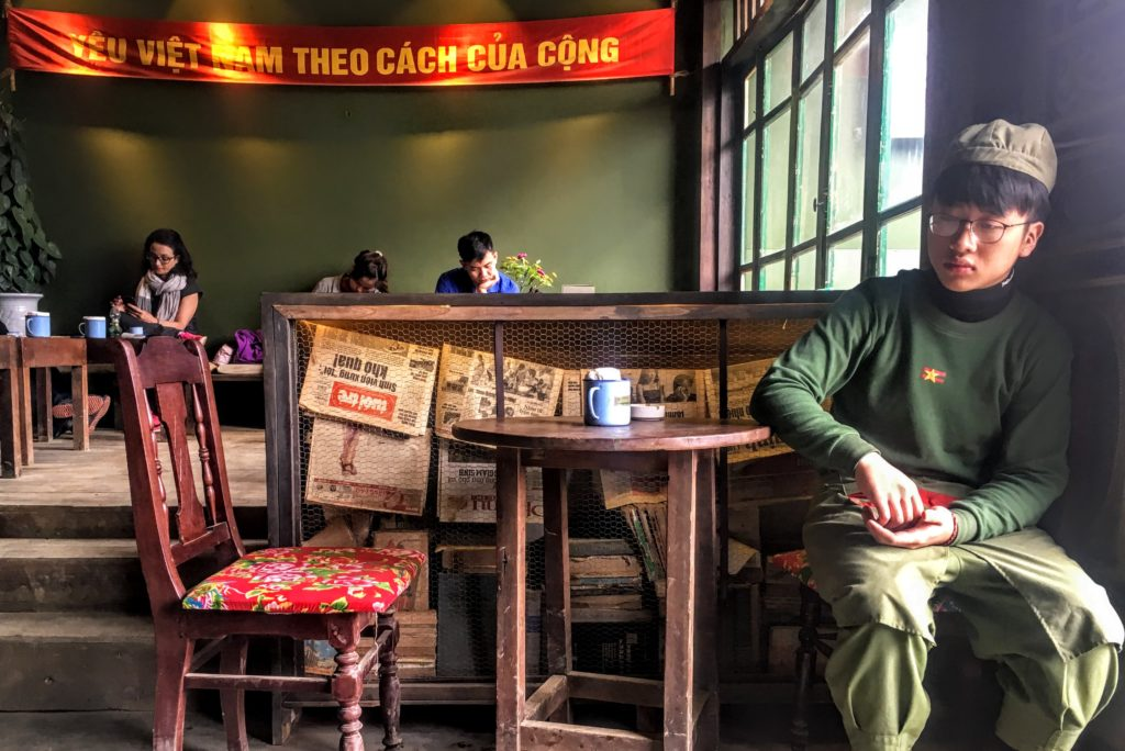 Perfect Place for Vietnamese Coffee with Retro Communist Flair: Cong Caphe