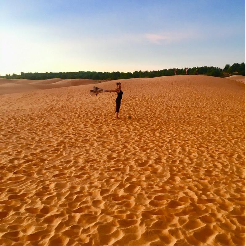 Red Sand Dunes near the Fairy Stream in Mui Ne in Vietnam