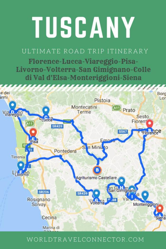Detailed Map Of Tuscany Italy.Road Trip To Tuscany Perfect Tuscany Road Trip Itinerary Tuscany Map