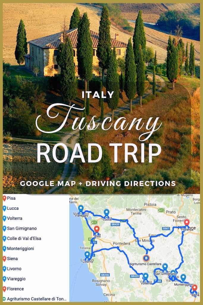 Map Of Tuscany In Italy.Road Trip To Tuscany Perfect Tuscany Road Trip Itinerary Tuscany Map