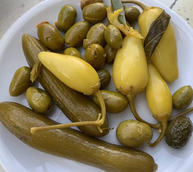 Israeli pickles or Hamutzim are popular food in Israel