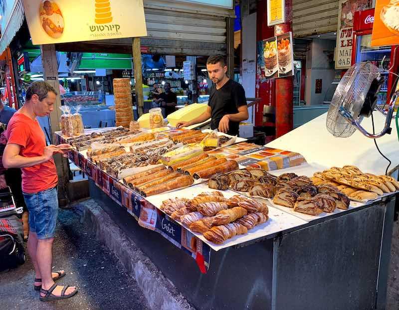 On Carmel Market in Tel Aviv you can find a huge number of popular Israeli food