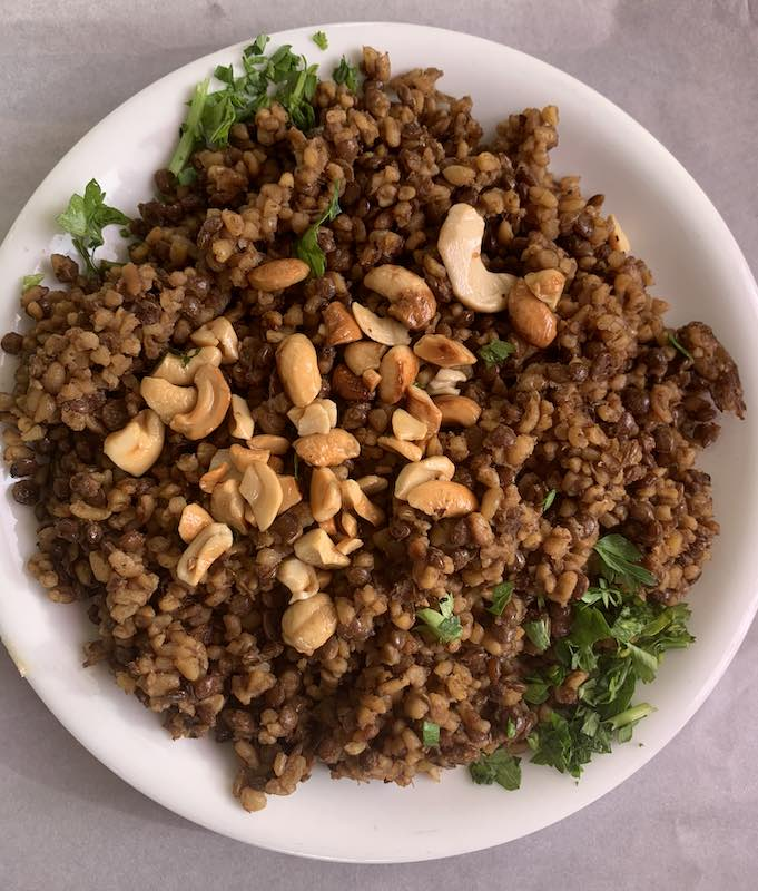 Mujaddara is one of the most popular dishes in Israel  I Most Popular Food in Israel I Famous Israeli Food I Best Israeli Dishes  I Food from Israel I Top Israeli Foods I Israeli cuisine #Israel #Food #Dishes #Traditional #MiddleEastern #Cuisine #best #Foods