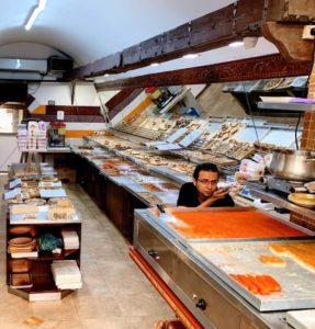 Sweet kanafeh pastry is popular food in Israel