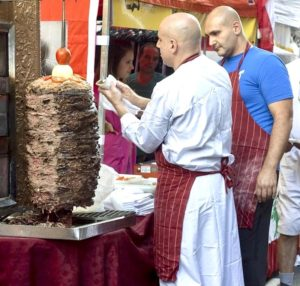 Shawarma is popular street food in Israel