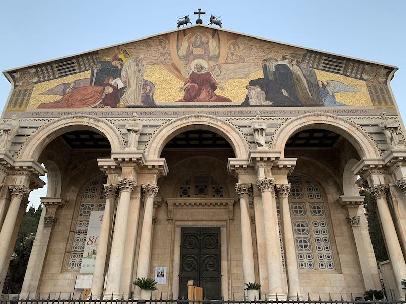 The CHURCH OF ALL NATIONS in Jerusalem is one of the most popular holy sites in Israel