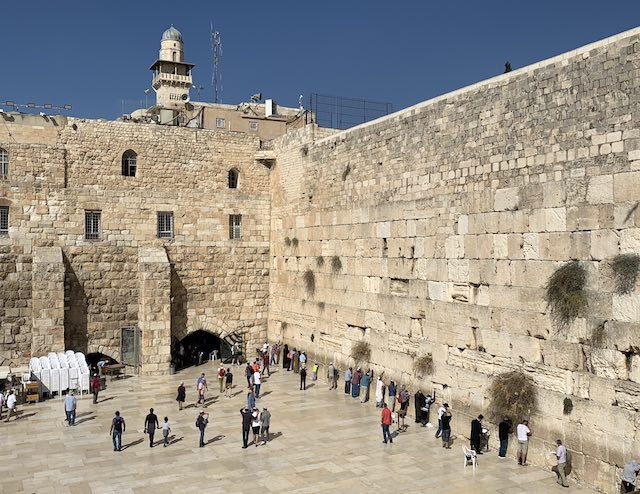the Western Wall in Jerusalem is one of the most popular holy sites in Israel