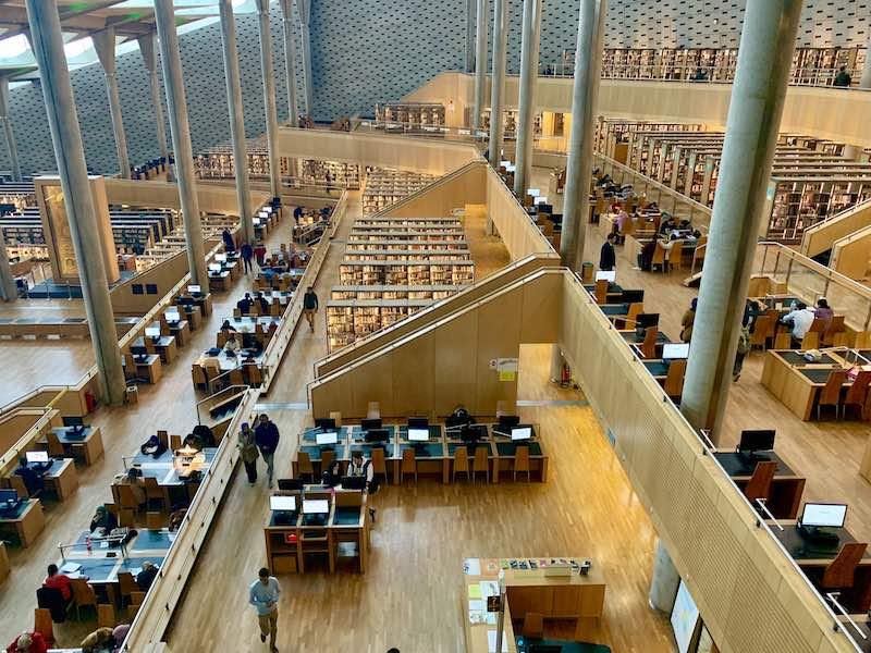 the Bibliotheca Alexandrina is one of famous Egypt landmarks