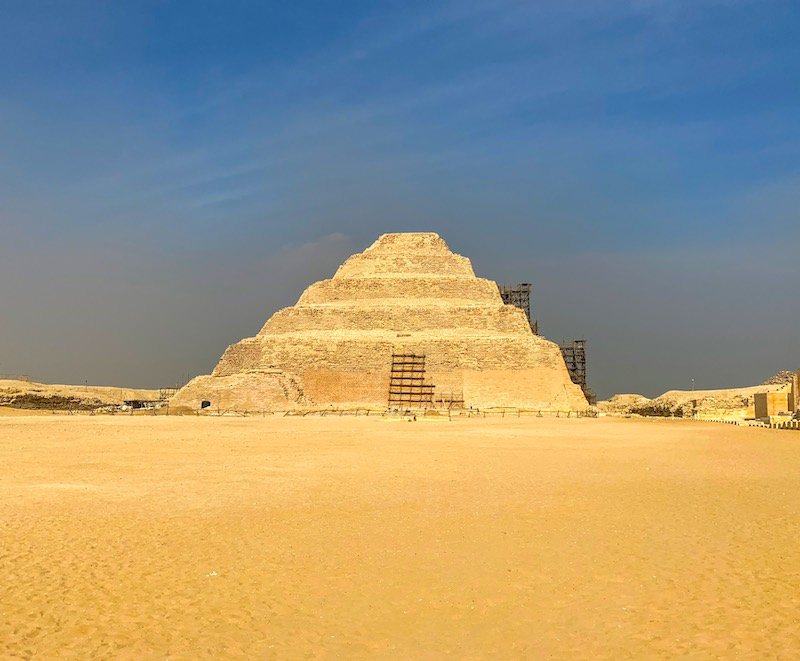 Step Pyramid of Djoser is one of the famous landmarks in Egypt
