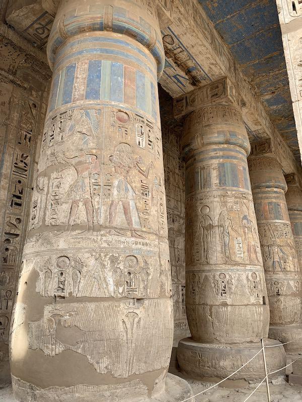 The Madinat Habu Temple is one of famous Egypt landmarks