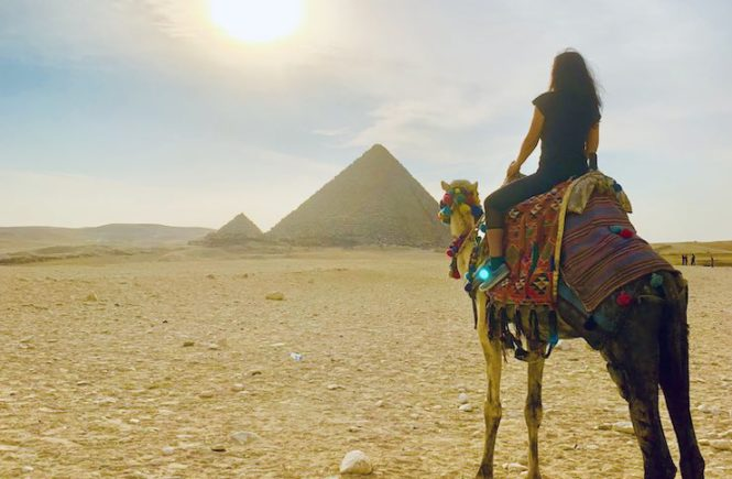 Pyramids of Giza are one of the famous Egypt landmarks