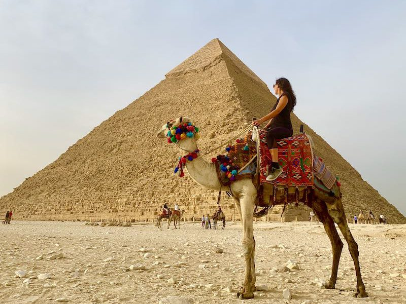 The Pyramids of Giza is one of Egypt landmarks