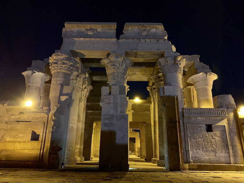 The Temple of Kom Ombo is one of famous Egypt landmarks