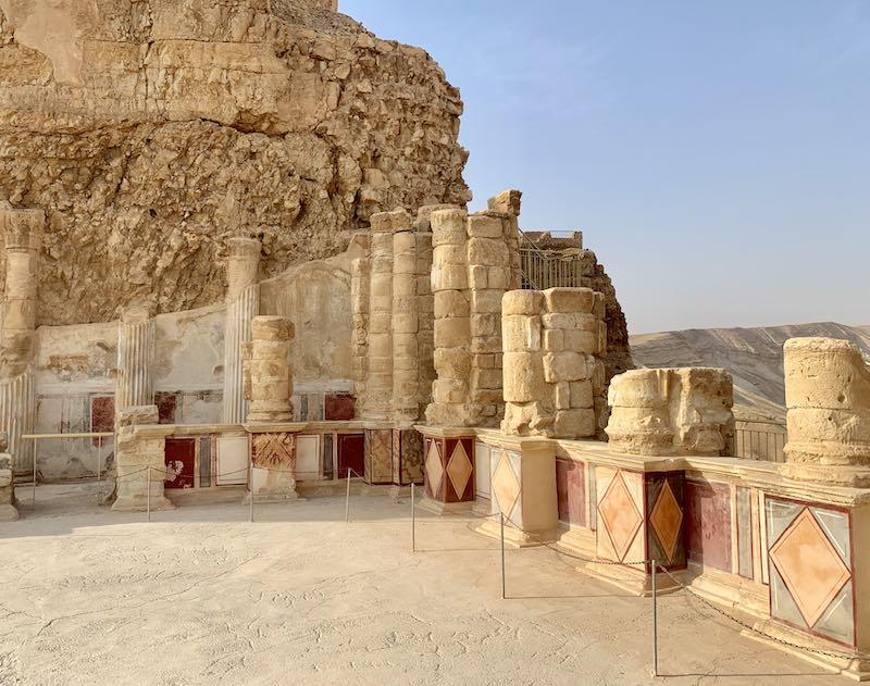 Columns at Masada