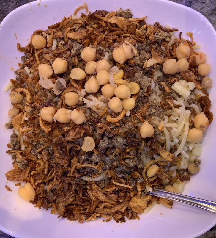 Koshery is a vegetarian Egyptian food