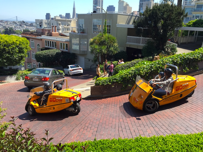 Russian Hill with Lombard Street is one of the best areas to stay in San Francisco