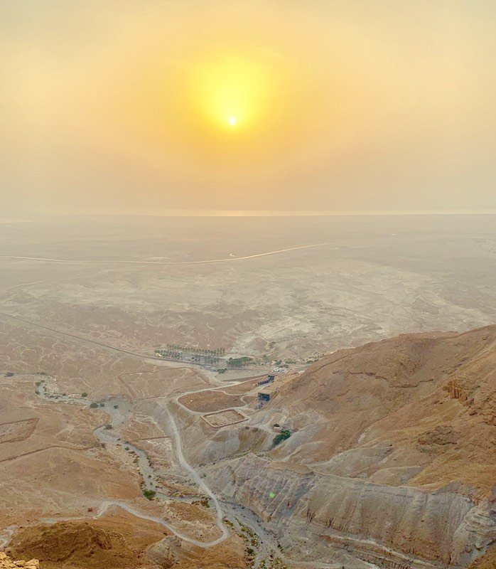 Hiking Masada in sunrise