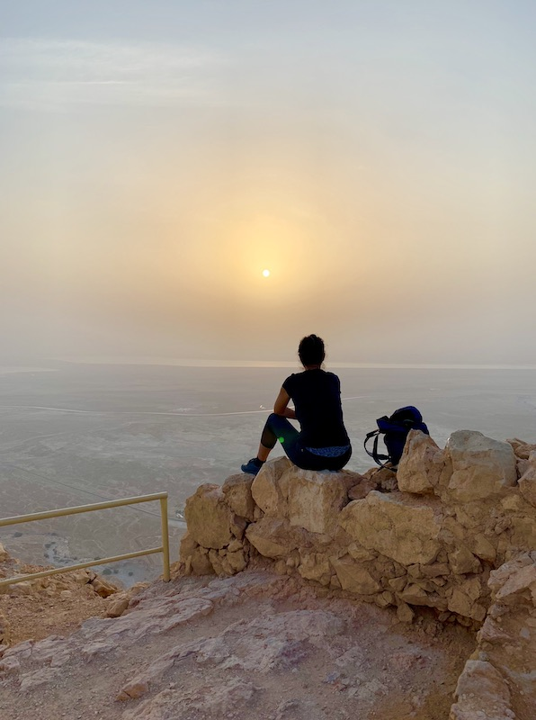 hiking Masada in Israel