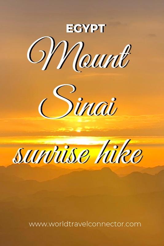 Climbing Mount Sinai
