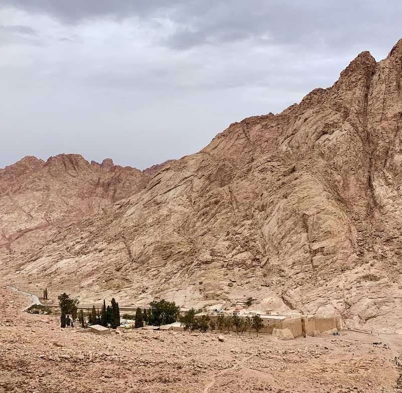 Climbing Mount Sinai in Egypt