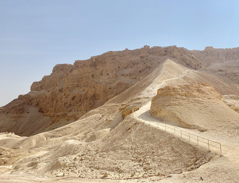 Hiking Masada by Roman Ramp