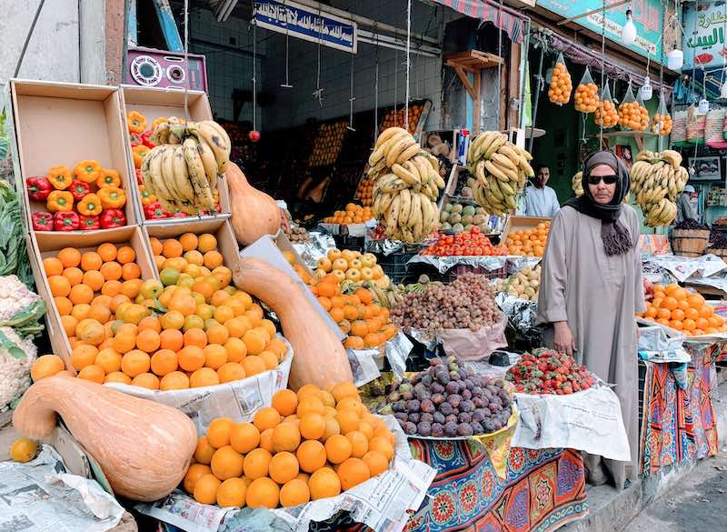 Delicious fruits are great vegetarian foods in Egypt