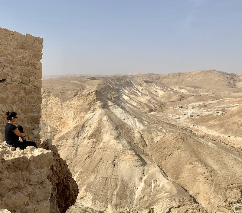 hiking masada for sunrise