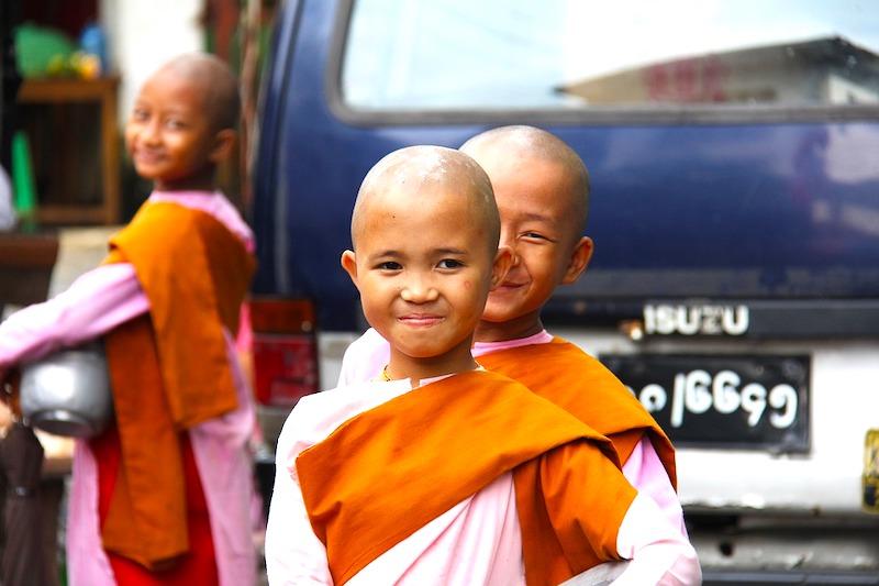 Buddhist Female Monks in Mynamar