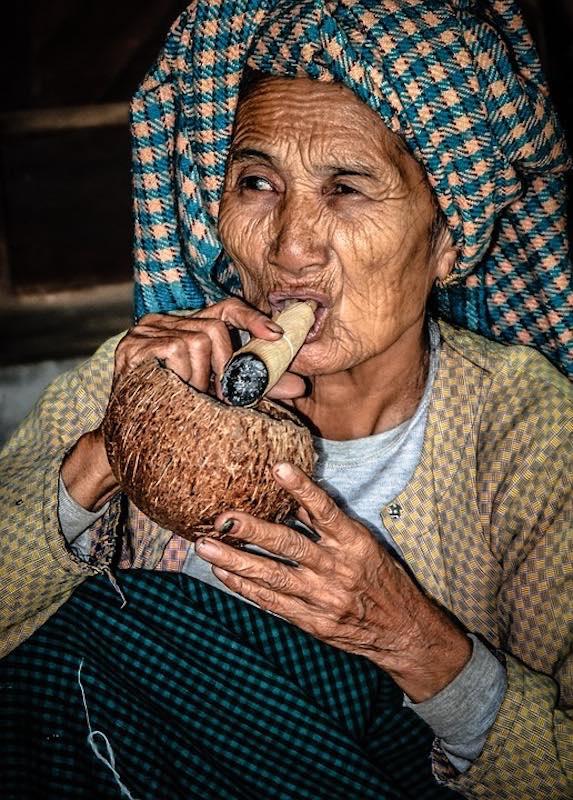 Old woman in Myanmar