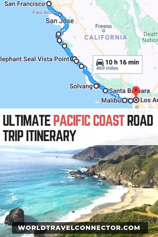 California Map Coastal Drive.Scenic Drive From San Francisco To Los Angeles Google Map