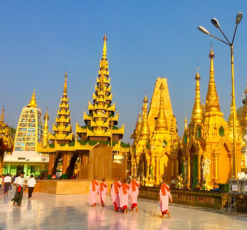 Shwedagon pagoda and Yangon are one of top Myanmar top destinations