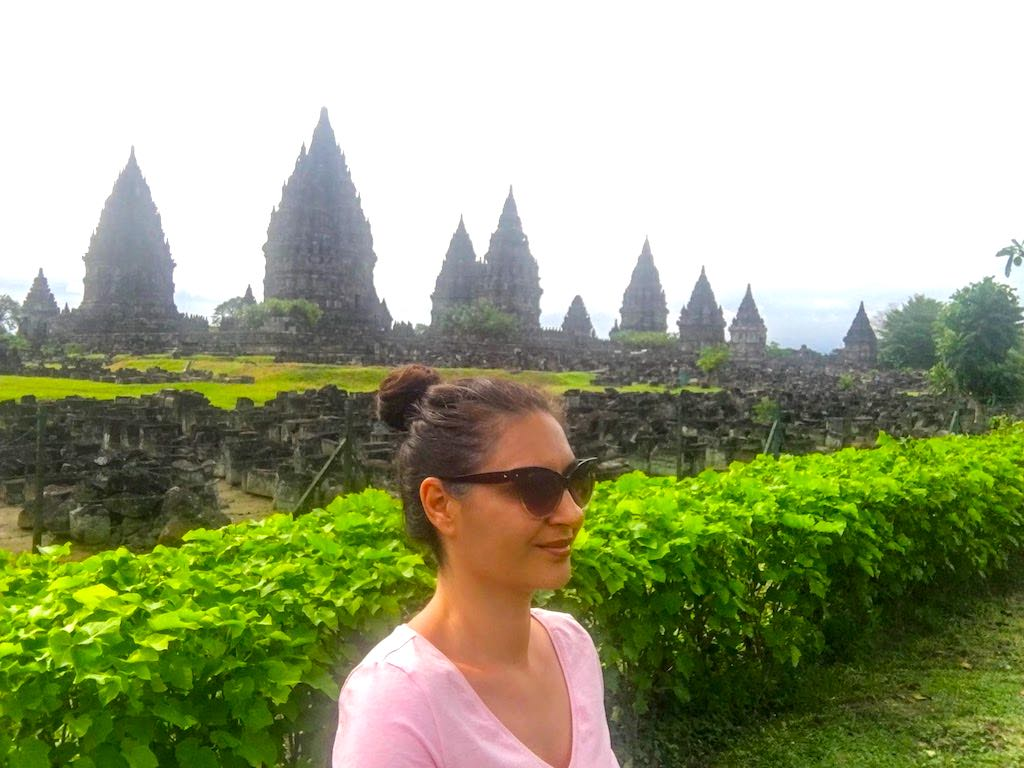 Borobudur and Prambanan temples in Java in Indonesia