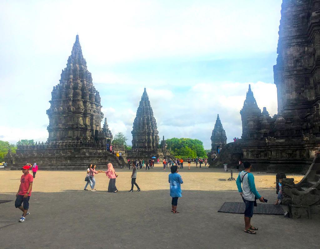 Borobudur and Prambanan temples in Indonesia Prambanan temple compound