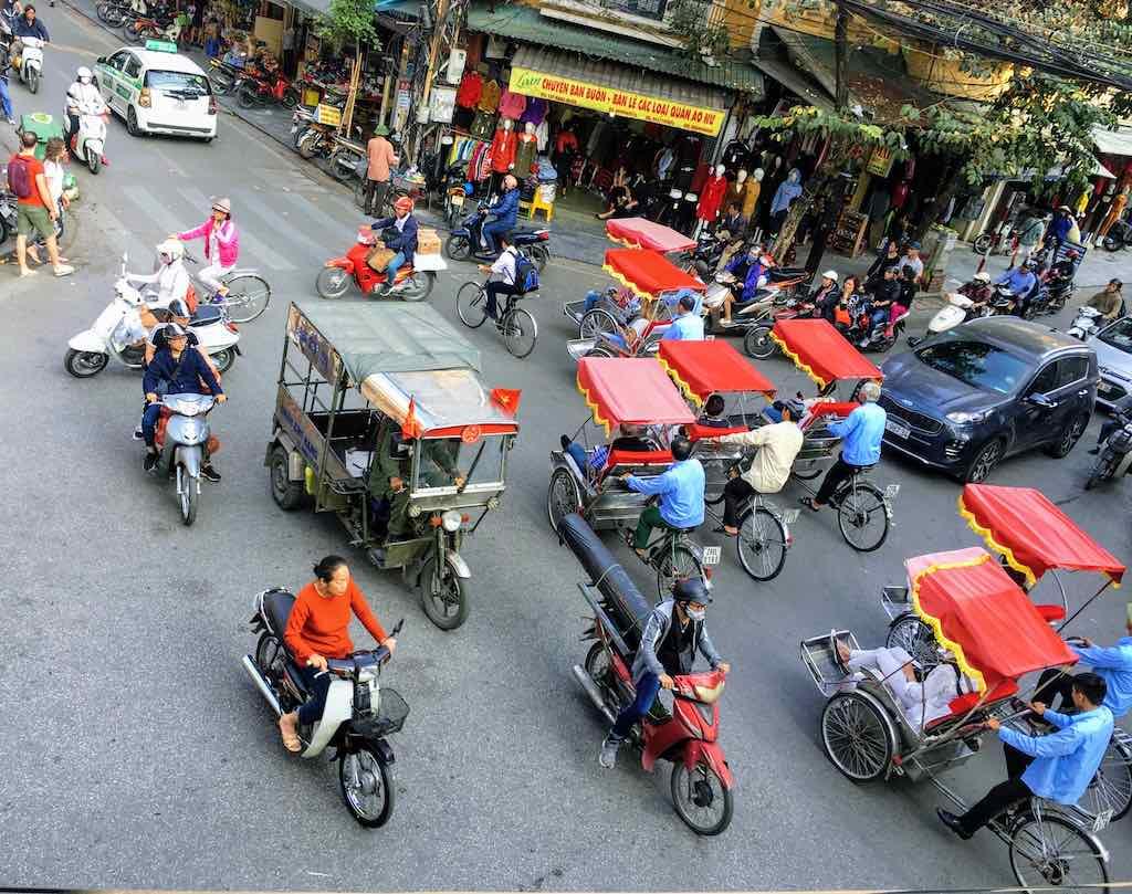 Hanoi Street Crossing