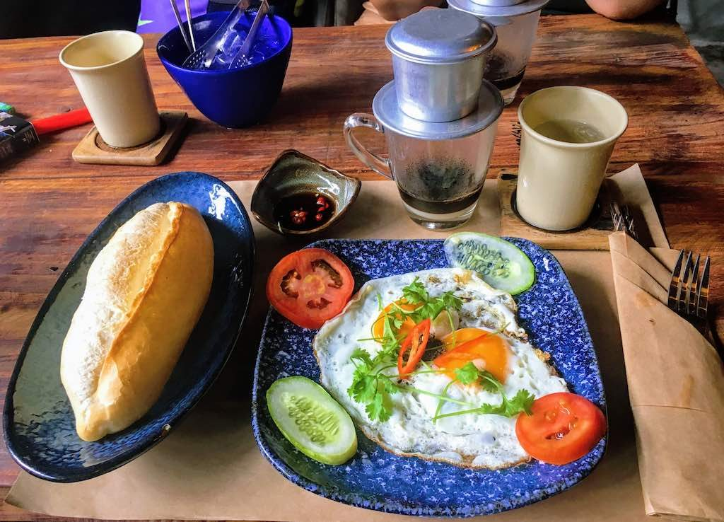 Vietnamese-style fired eggs  are common breakfast food in Vietnam